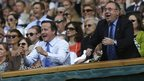 David Cameron and Alex Salmond celebrate Murray's victory