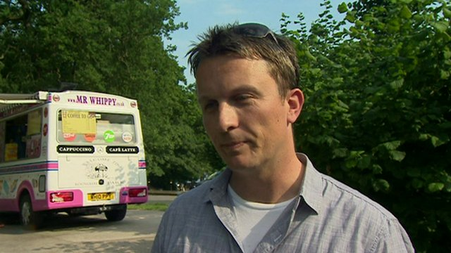 Man by ice-cream van