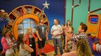 Staff in CBeebies studio