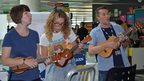 The staff ukulele orchestra
