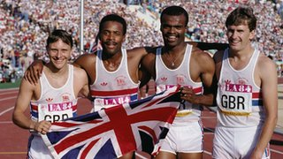 Todd Bennett, Phil Brown, Kriss Akabusi and Garry Cook