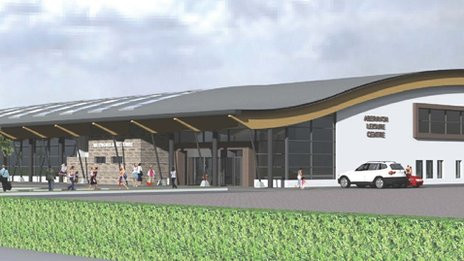 Artist impression of the new building