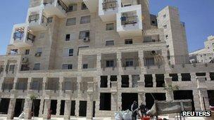 Existing multi-storey housing at Modiin Ilit West Bank settlement