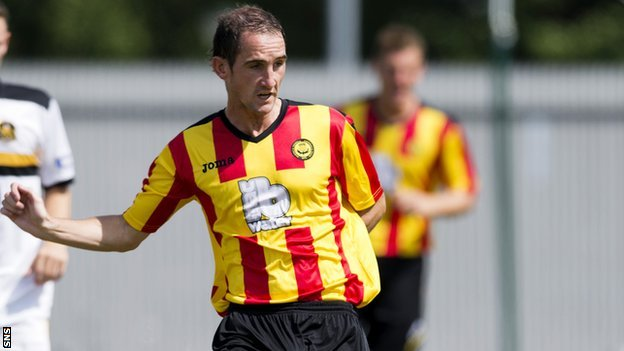 Partick Thistle midfielder Mark Kerr