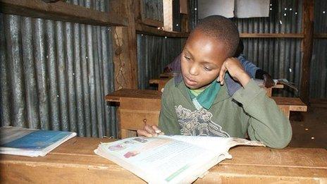 A Kenya school pupil - July 2013