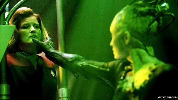 The Borg Queen & Captain Janeway in Star Trek Voyager