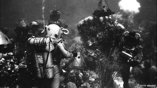 Film still from Twenty Thousand Leagues Under the Sea