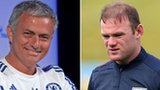 Chelsea manager Jose Mourinho and Manchester United striker Wayne Rooney