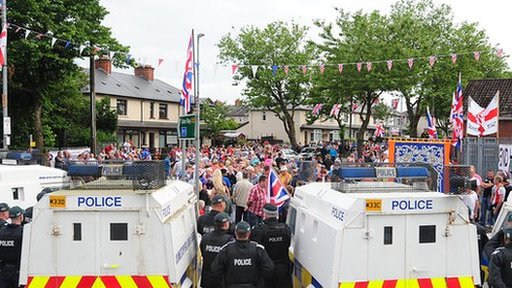 Orange Order protest Crumlin Road