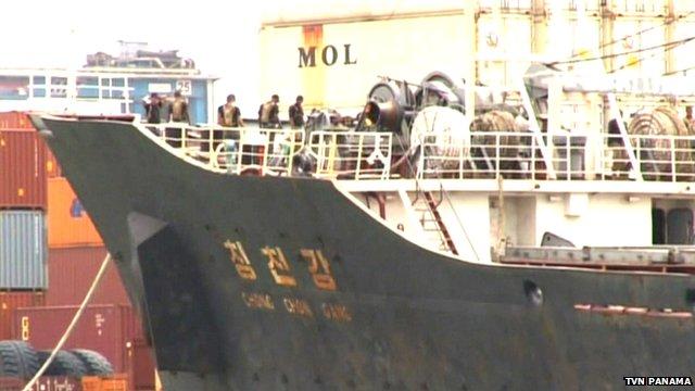 The ship in Panama