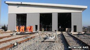 Reading station upgrade work - February 2013