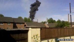 Plume of smoke coming from Port Talbot's steel plant