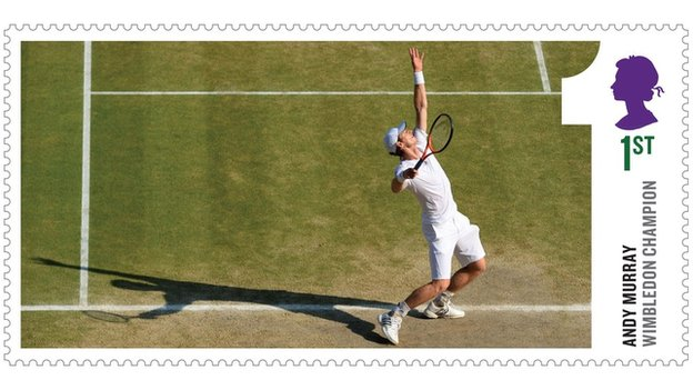 Royal Mail stamp featuring Andy Murray