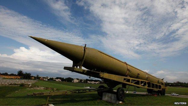 Cuban-owned deactivated Soviet-era medium-range ballistic missile (file photo - November 2009)