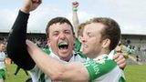 London pair Sean Kelly and Danny Ryan celebrate after beating Leitrim