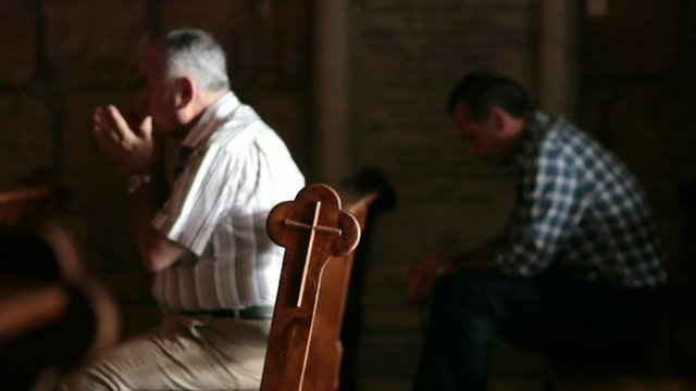Syrian Christians in church