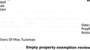 Council letter to Miss Tuckman's executors