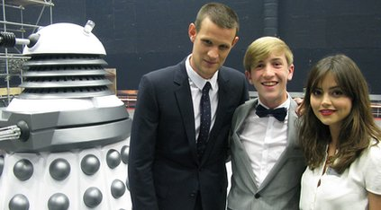 Young reporter Callum meets Doctor Who stars Matt Smith and Jenna-Louise Coleman