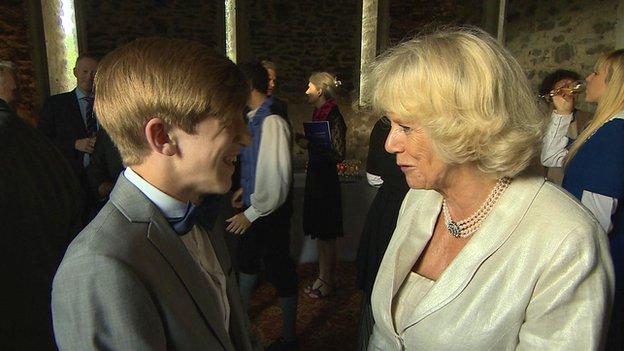 Callum meets the Duchess of Cornwall