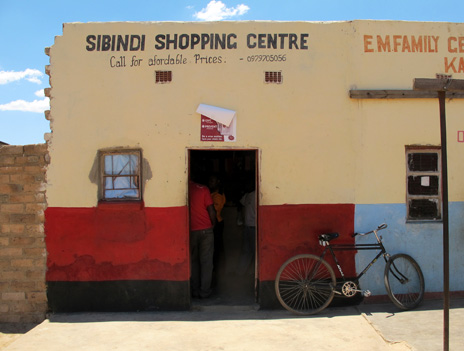 A shop on the High Street in Kanchele