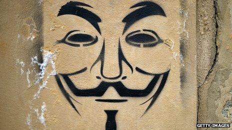 V For Vendetta Mask Stencil BBC News - Afri...