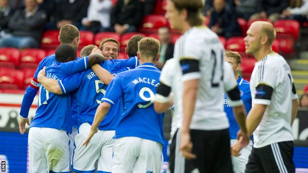 St Johnstone celebration