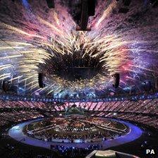 Stadium fireworks