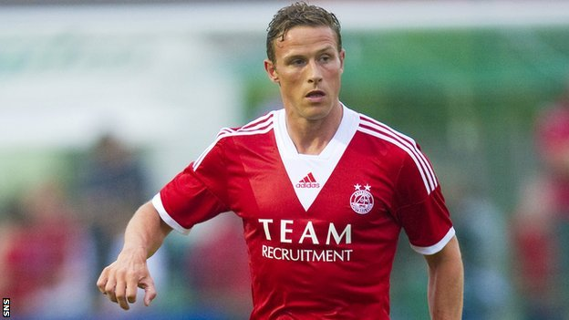 Aberdeen player Chris Clark