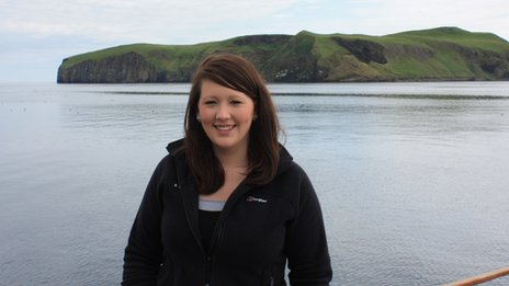 Catriona Maclean at sea by Isle of Harris