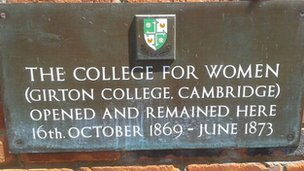 College of Women plaque