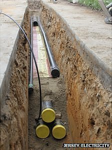 Ducts laid for Jersey Electricity undersea cable