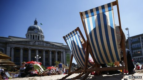 Urban beach in Nottingham