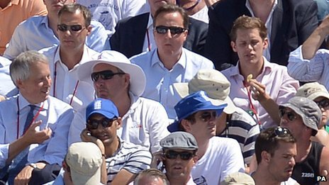 PM David Cameron at Lord's