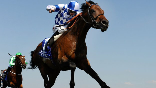 Al Kazeem runs clear to win the Eclipse Stakes at Sandown