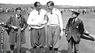 Henry Cotton and Walter Hagen
