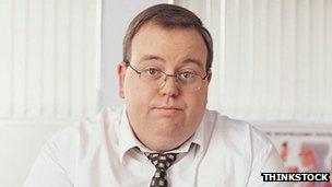 An overweight doctor