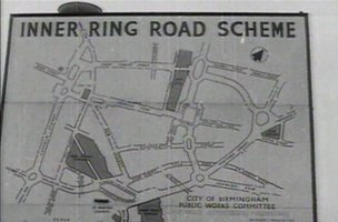 Sign showing the plans for the inner ring road