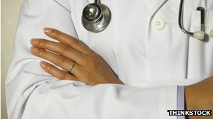 A doctor's white coat
