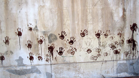 handprints in blood