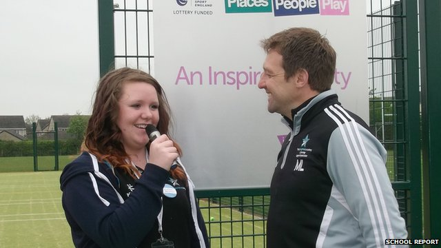 Emily from The Springfields Academy interviews PE teacher Mr Lloyd about the importance of sport in school