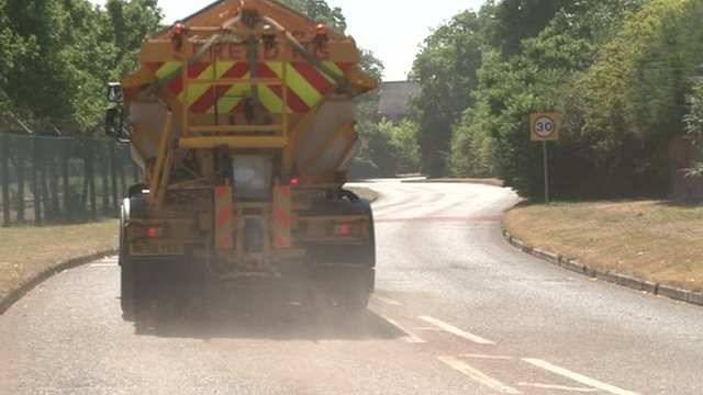 Gritters in the Hampshire heat-wave