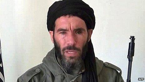 Undated video grab of Mokhtar Belmokhtar