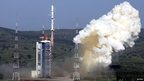 Rocket blast-off in China