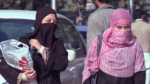 Veiled women in Peshawar, file pic