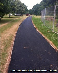 New path at the space - Central Tupsley Community Group