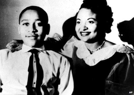 Emmett Till and his mother Mamie Till Mobley