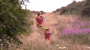 firefighters on Arthur's Seat