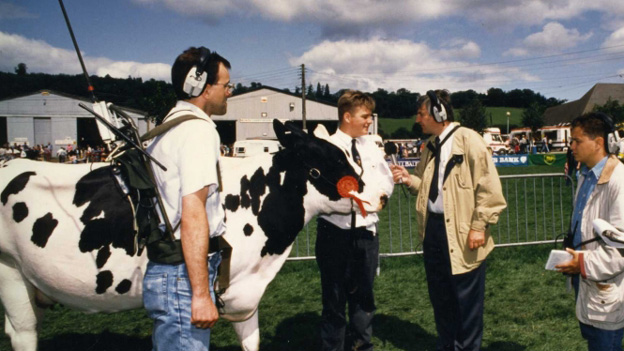 Bull owner at the 1992 Royal Welsh Show