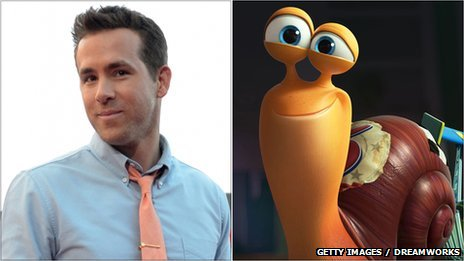Ryan Reynolds and his character in Turbo