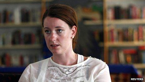 Marte Deborah Dalelv at the Norwegian Seamen's Center in Dubai on 21 July 2013